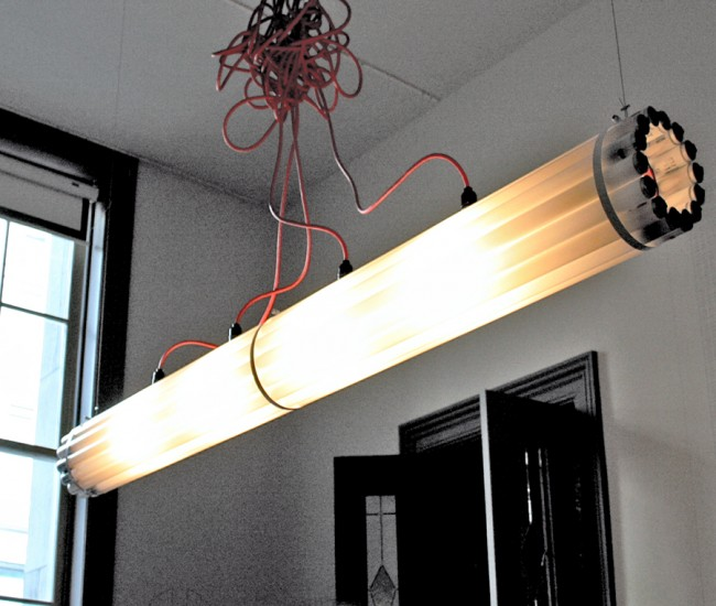 The firm's Recycled Tube light, which became a sensation in the late-aughts and has appeared in many of the homes and restaurants featured in our pages.