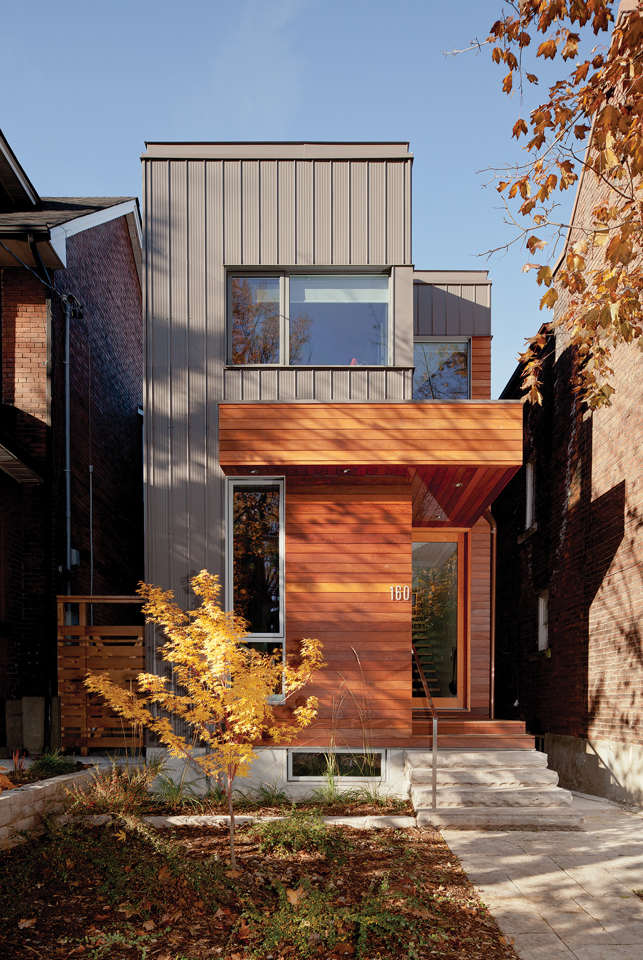 A two-storey infill home in Toronto's west end.