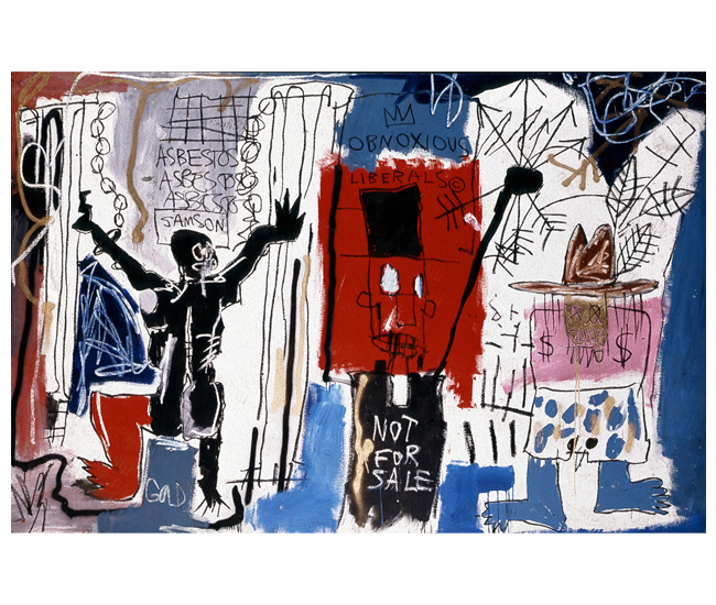 Obnoxious Liberals, 1982. The Eli and Edythe L. Broad Collection © Estate of Jean-Michel Basquiat (2014) Licensed by Artestar, New York.