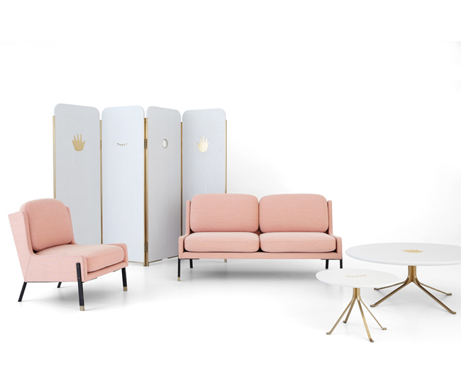 The studio's Blink collection of furniture.