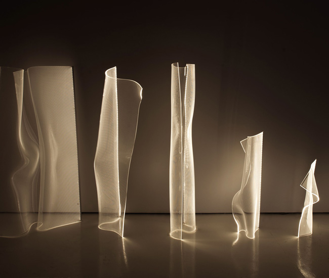 Gweilo, a wavy sheet of acrylic side-lit with ultrabright LEDs, was awarded top honours among established firms by Vancouver's L A M P competition.