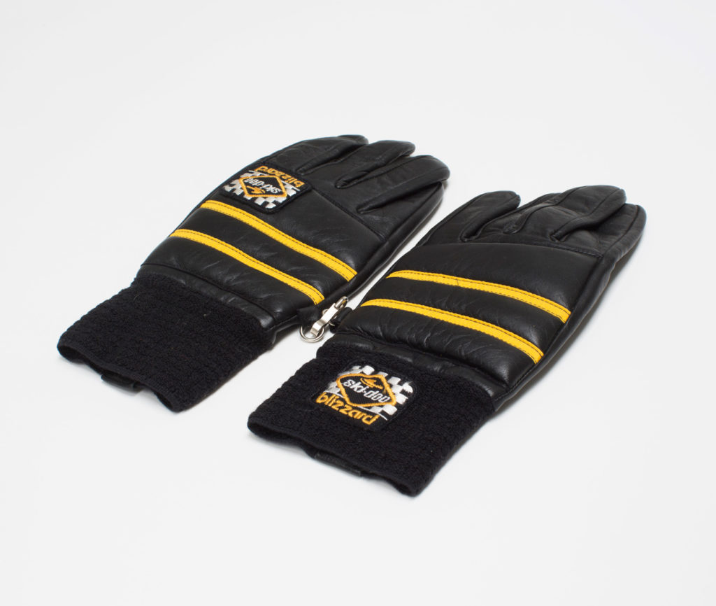 Leather Ski-Doo gloves.