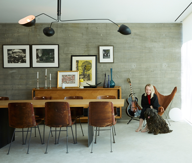Dining table and sofa set from Italinteriors. Photo by Naomi Finlay.