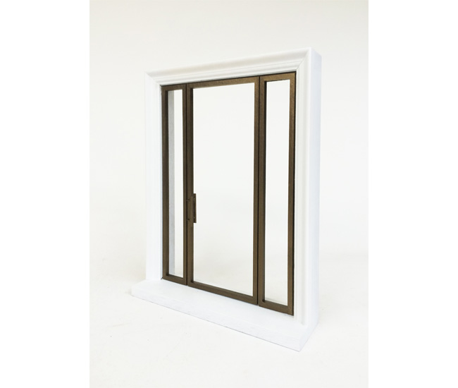 A study model of a bronze door designed for a private residence.