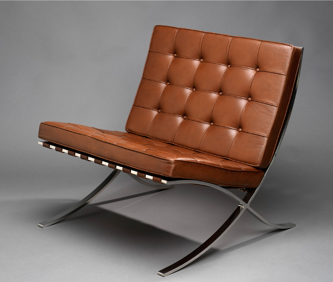 Barcelona chair by Mies van der Rohe.