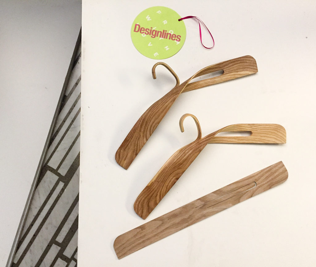 Ryo Yonekawa's Teetle clothes hangers are an elegant storage solution created by steam-bending a single strip of wood. (Or, as the designer puts it,