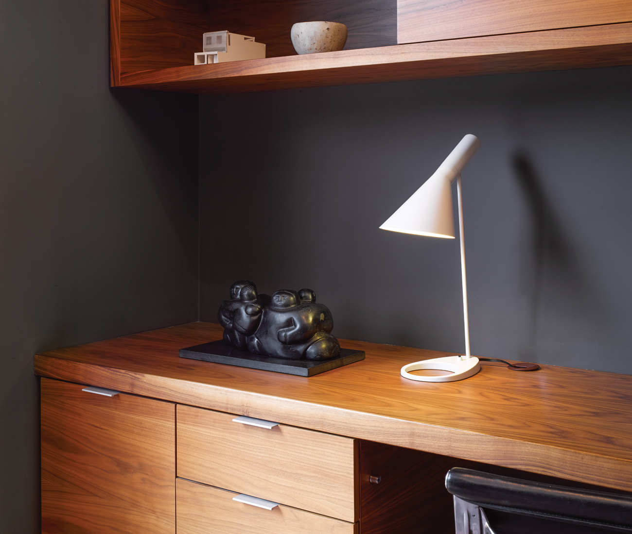 A Home Office With Back-to-Back Bureaus