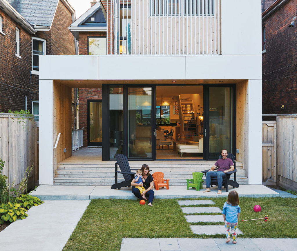 Clever geometry and wood slats turn this Little Italy home into something special. Photo by Naomi Finlay.