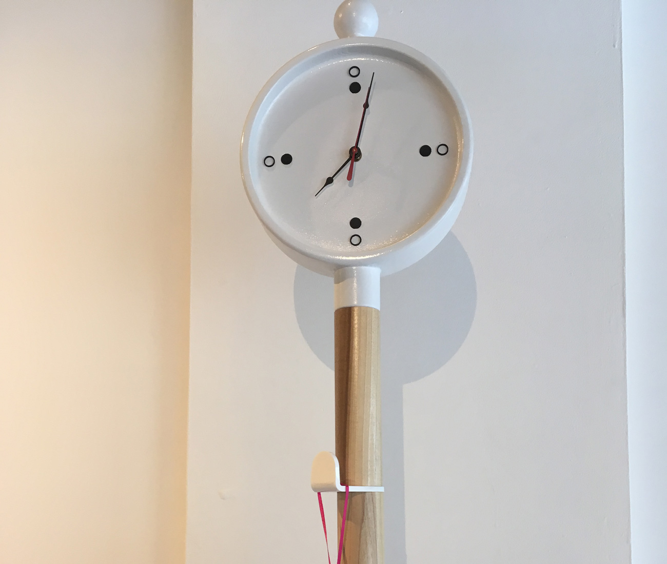 London Coat Stand. This playful riff on a coat stand incorporates an icon of London life: Big Ben. Perfect for hanging trench coats, umbrellas and hats, it also tells the time. Payvar Sazesh's multifunctional timepiece, made from solid poplar, MDF, acrylic and clock components, will be available at Umbra soon. Not bad for an OCAD U student on the rise. (Tables, Chairs & Other Unrelated Objects, Ignite Gallery, 165 Augusta Avenue)