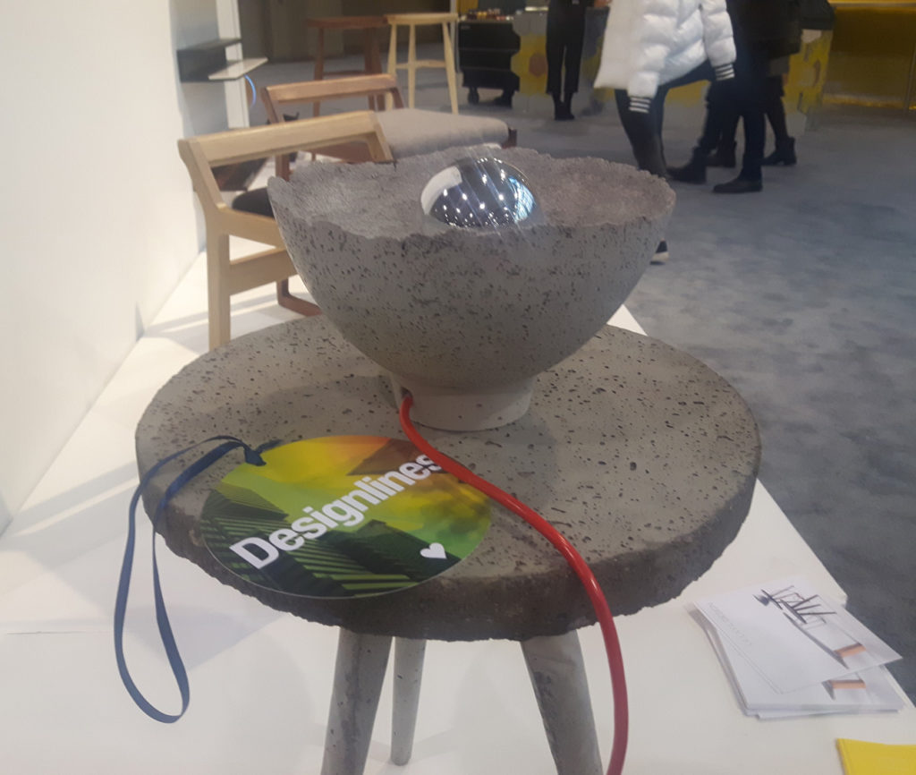 Seen at this year's Prototype competition, the Ka Tsi Ka Ta and Ta Ka Tis Ka side tables and Ayê lamp are the work of local designer Hanae Baruchel. Sidelined from her former career by a brain injury in 2016, Baruchel began making and manipulating materials as a form of recovery and therapy. Particularly drawn to concrete, she transforms the industrial mainstay into near wafer-thin lamps and cute, three-legged side tables, among other pieces for her recently founded studio Lalaya Design.