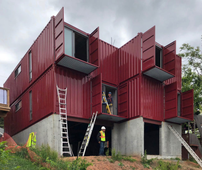 Hamilton's First Shipping Container Home Was Built in a Day