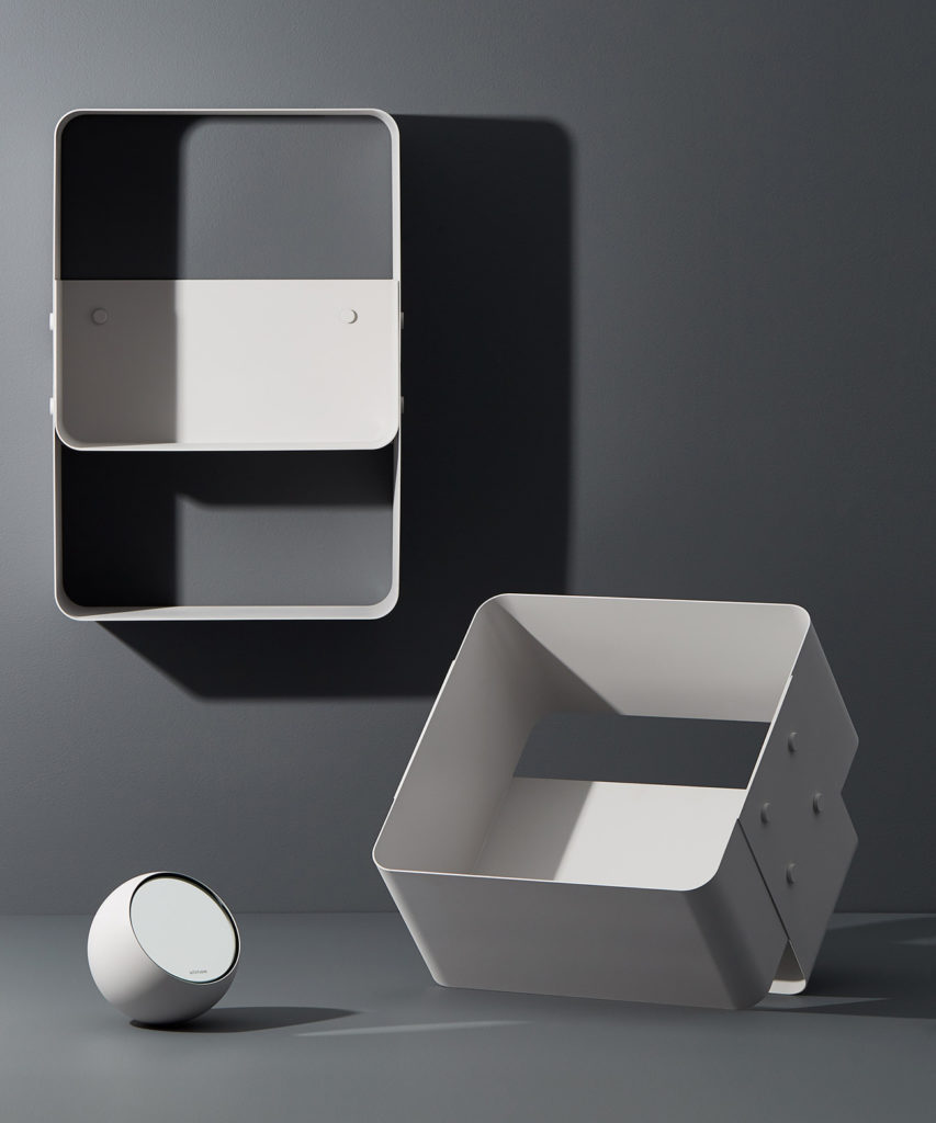 Roundabout Mirror and Wall Crate by Allstudio.