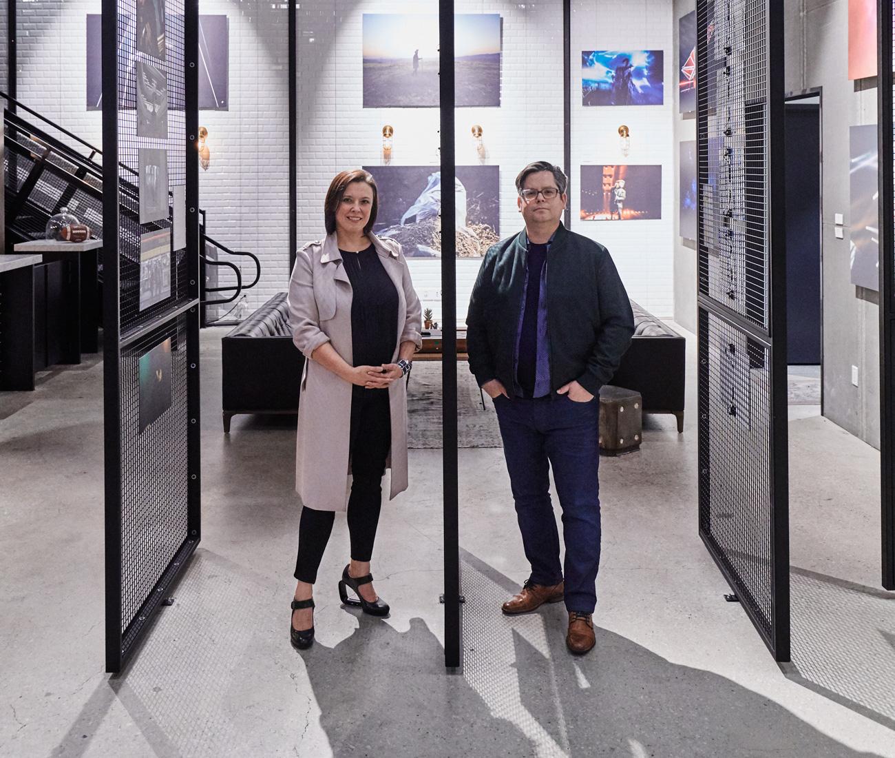 L&B principals Natasha Lebel and Luc Bouliane at the OneMethod office space.