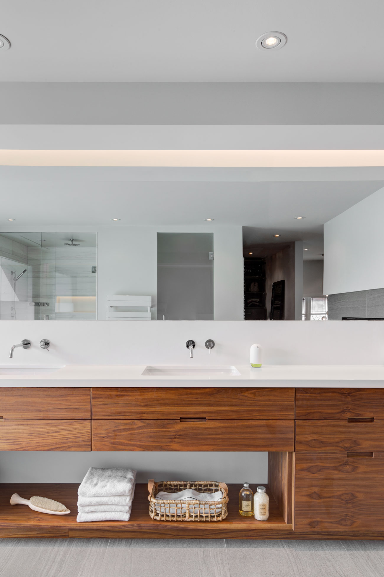 In A Spa Worthy Bathroom Frosted Glass Steals The Show Designlines Magazine