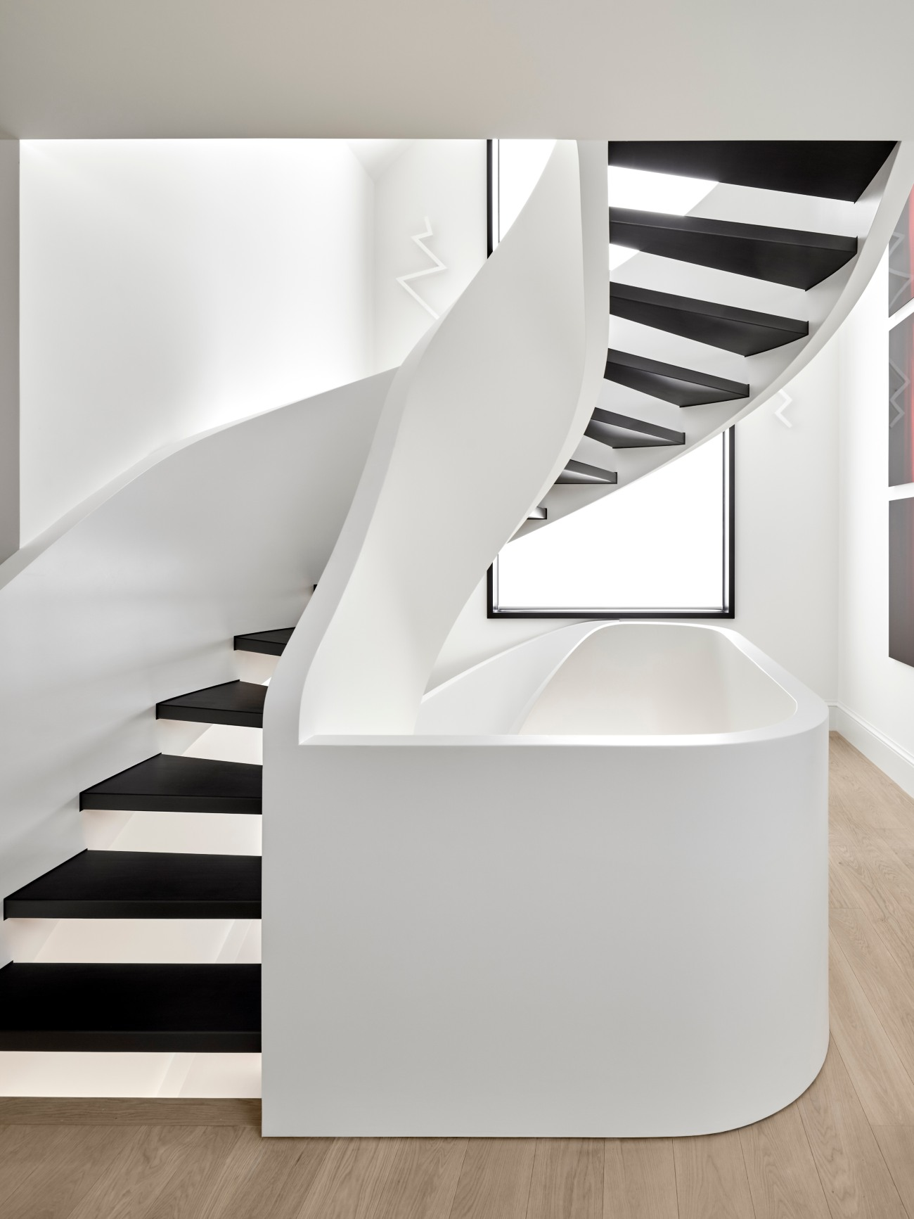 Another view of the staircase.
