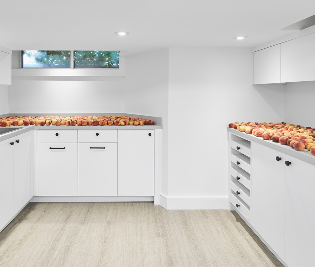 Also in the new basement is a workroom perfectly suited to preserving and canning fresh fruit.