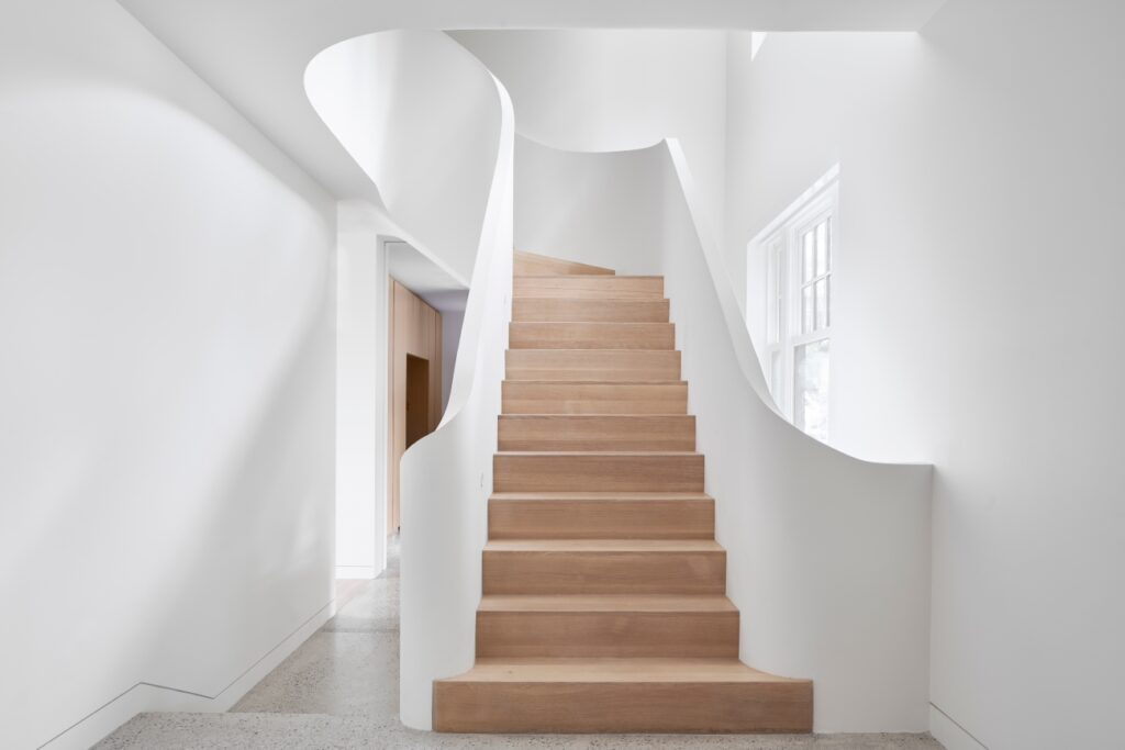 A few of the staircase from the second storey.