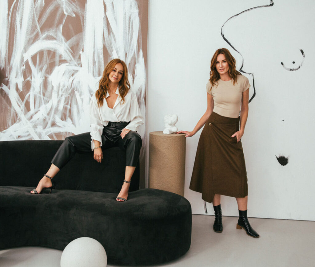 A shared passion for design saw friends Muriel Solomon, left, and Blok Design founder Vanessa Eckstein, combine their shared strengths in førs studio.