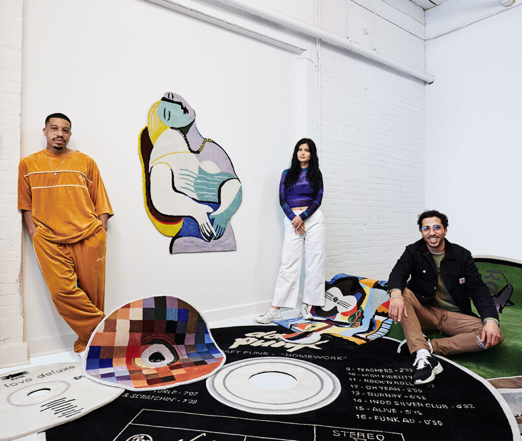 Sean Brown (far left), Iva Golubovic and Zachary Aburaneh with Sade's